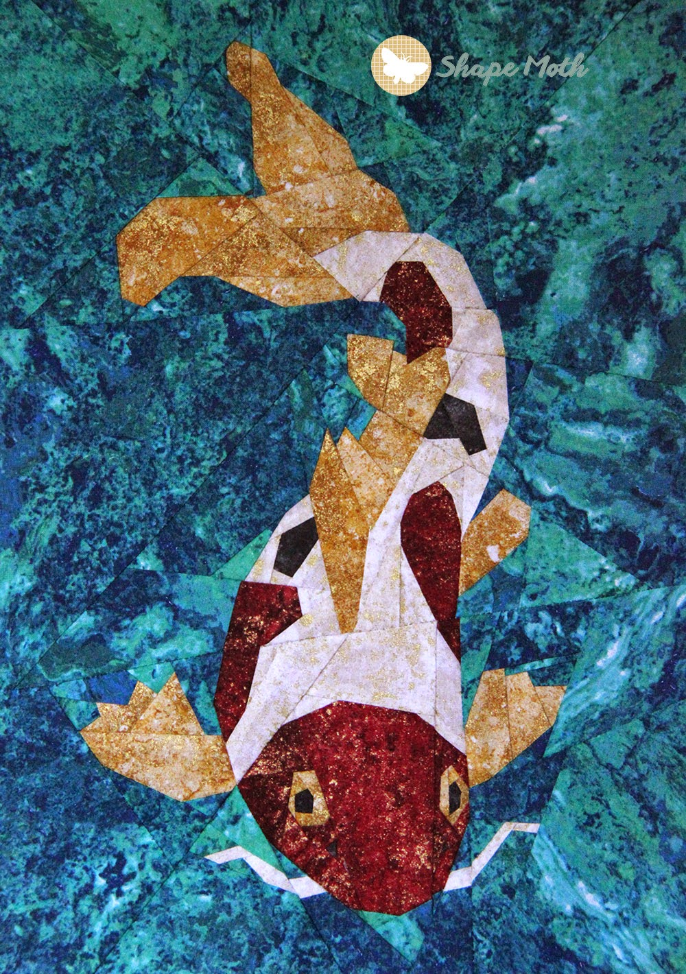 Shape moth koi pp paterns a giveaway for Koi pond quilt pattern