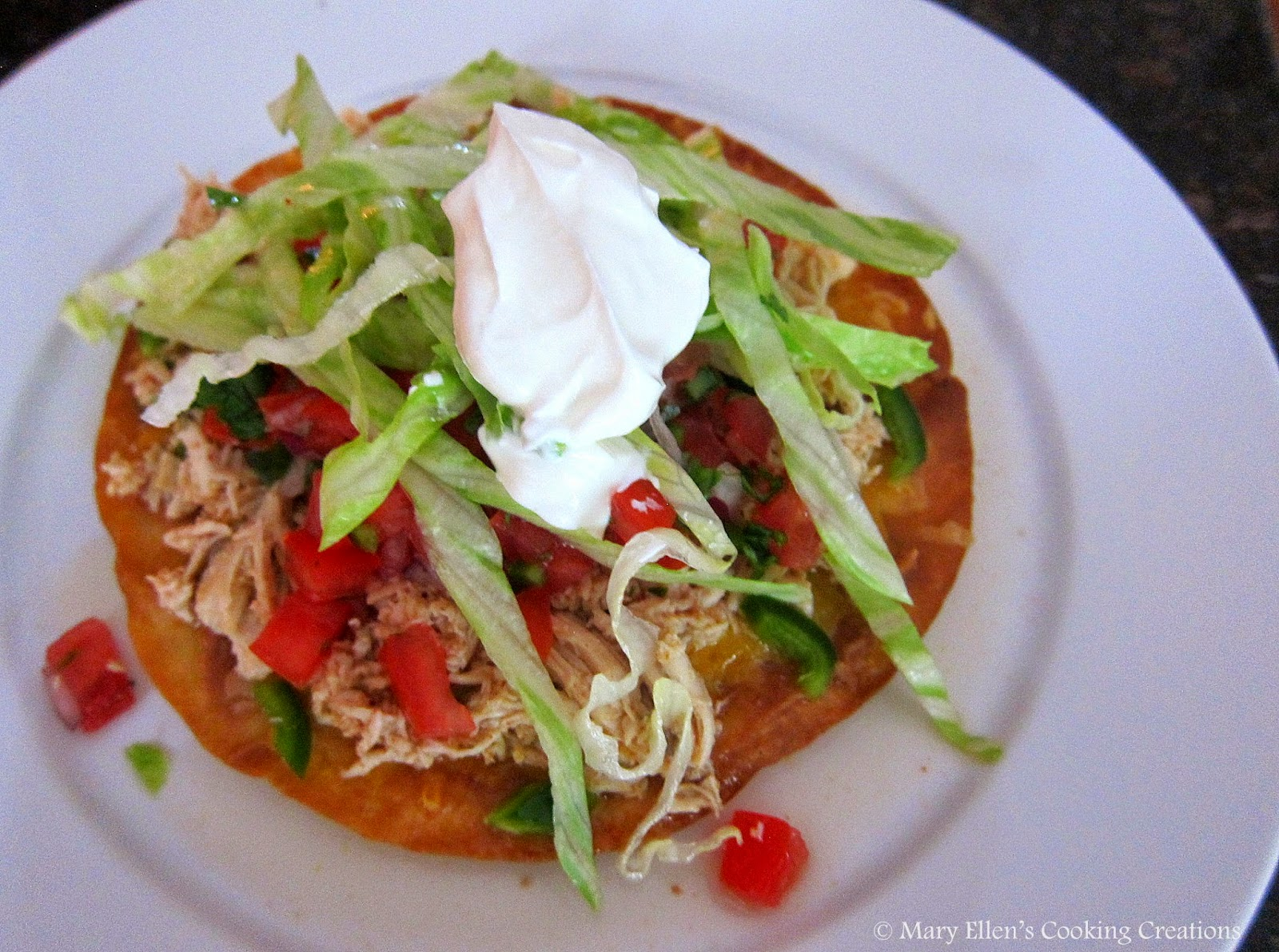 Mary Ellen's Cooking Creations: Chicken Tostadas
