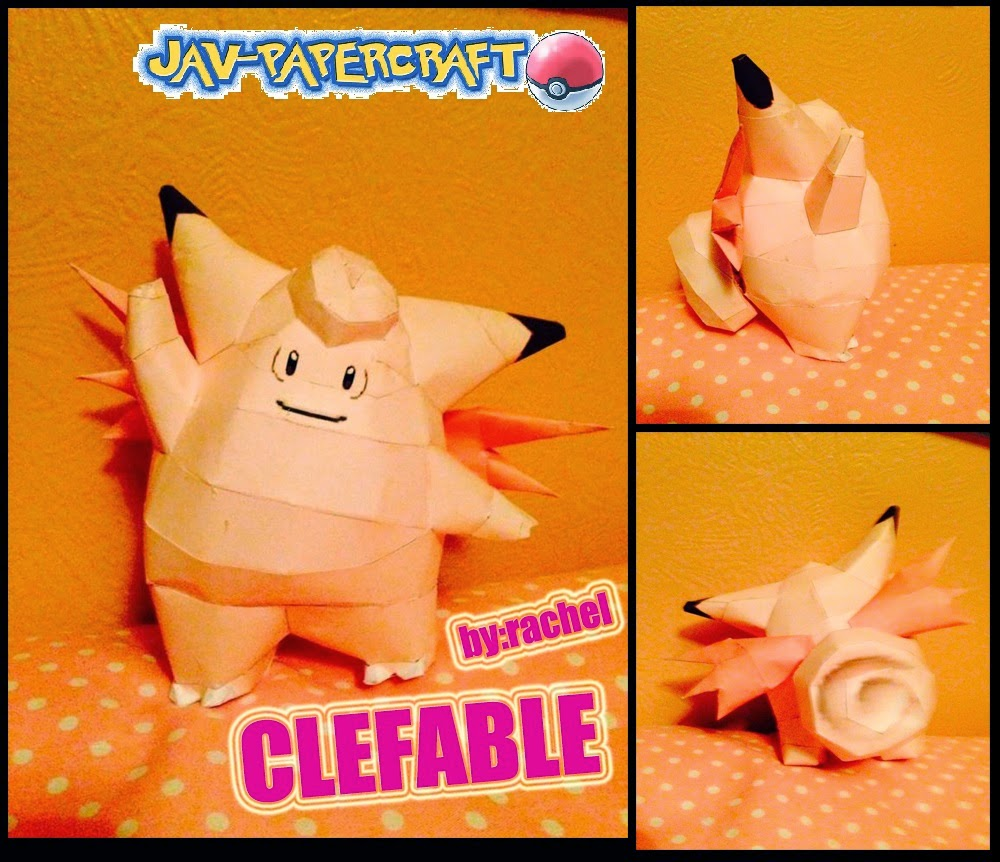 Clefable Paper Model