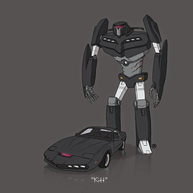 Darren Rawlings Knight Rider Transformer KITT Rawlsy