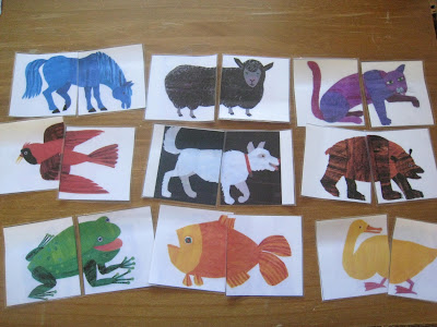 matching animals- busy bags