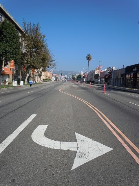 Empty streets AIDS Walk LA 2011