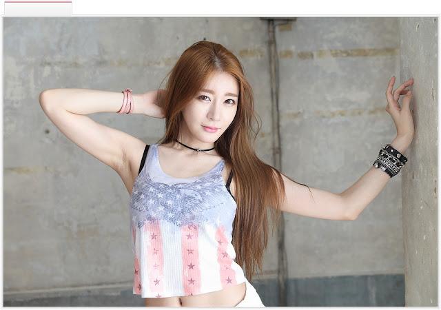 1 Han Ji Eun - Studio Photo Shoot - very cute asian girl-girlcute4u.blogspot.com