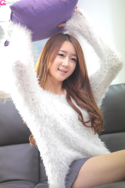2 Han Chae Yee in White - very cute asian girl - girlcute4u.blogspot.com