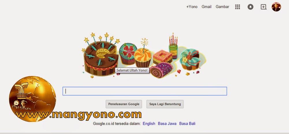 Dapat Ucapan selamat Ulang tahun dari Google