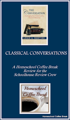 "Classical Conversations for High School (A Schoolhouse Crew Review) on Homeschool Coffee Break @ kympossibleblog.blogspot.com  Our review of ""The Conversation"" by Leigh A. Bortins - a guide to challenging high school students with a classical education, using the canons of rhetoric in every subject"