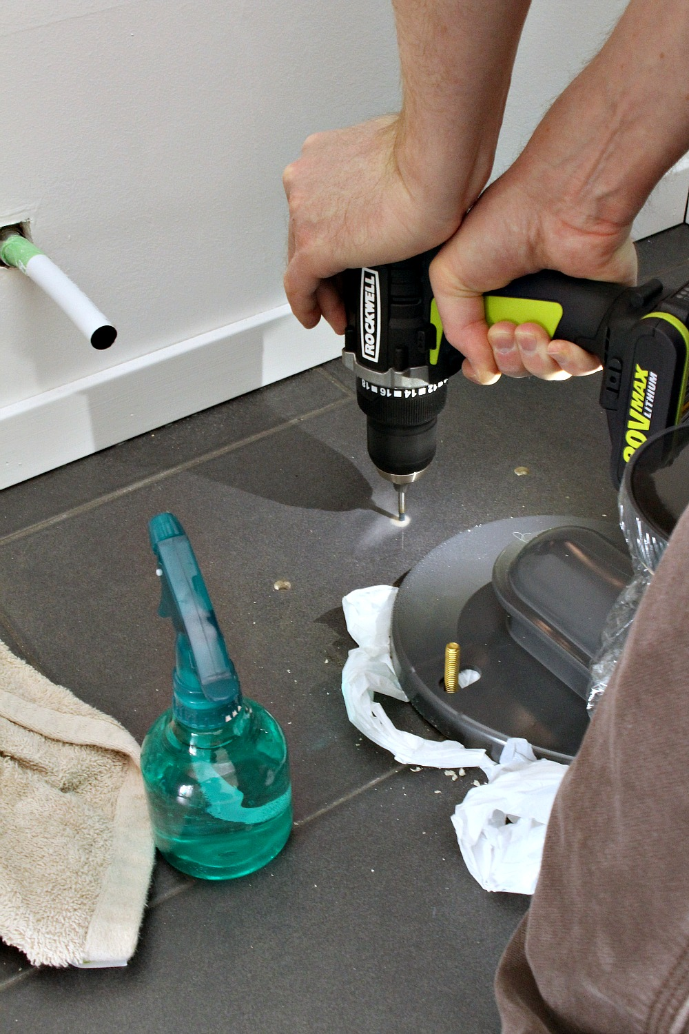Ceramic tile drilling