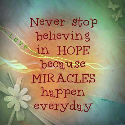 Quotes and Sayings: Never Stop Believing In Hope