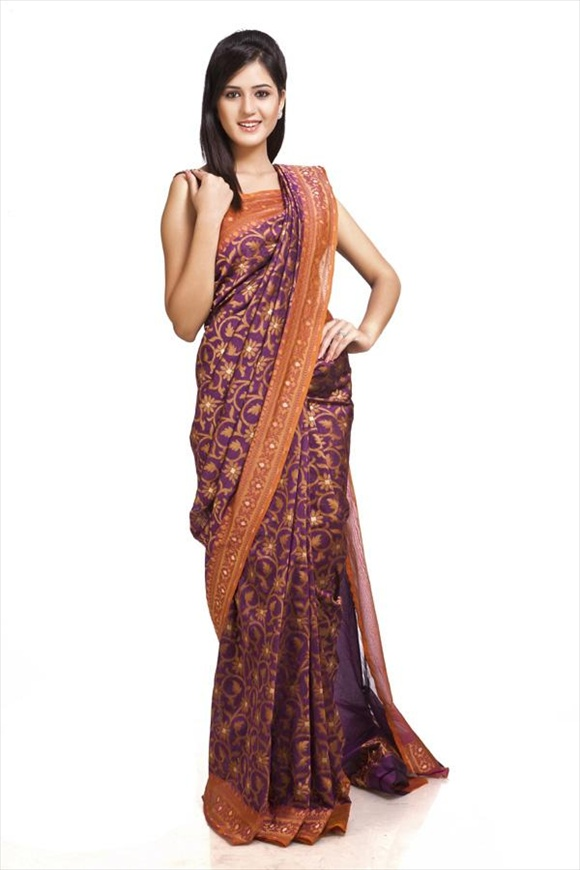 Imperial Blue Net Saree