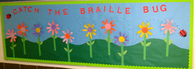 Photo of Braille bulletin board