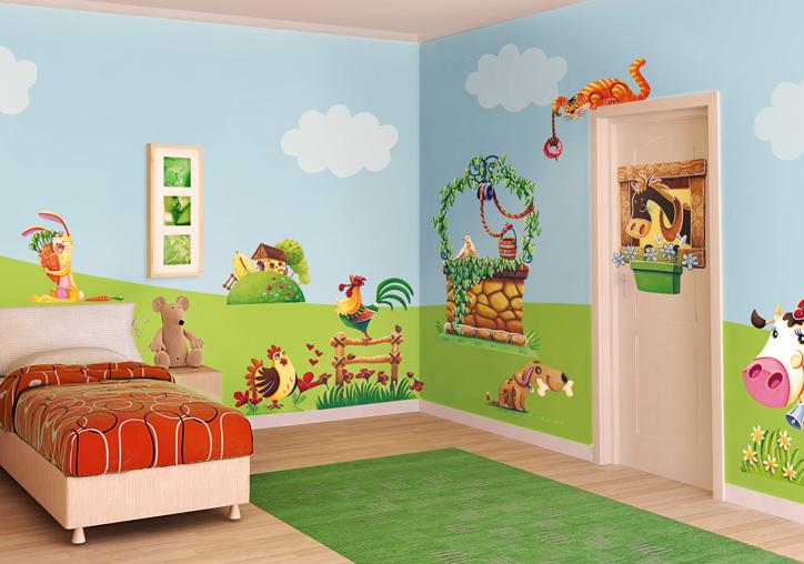 A tutto punto leostikers pareti in movimento - Colori pareti camerette per bambini ...