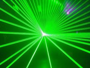 Laser show verde