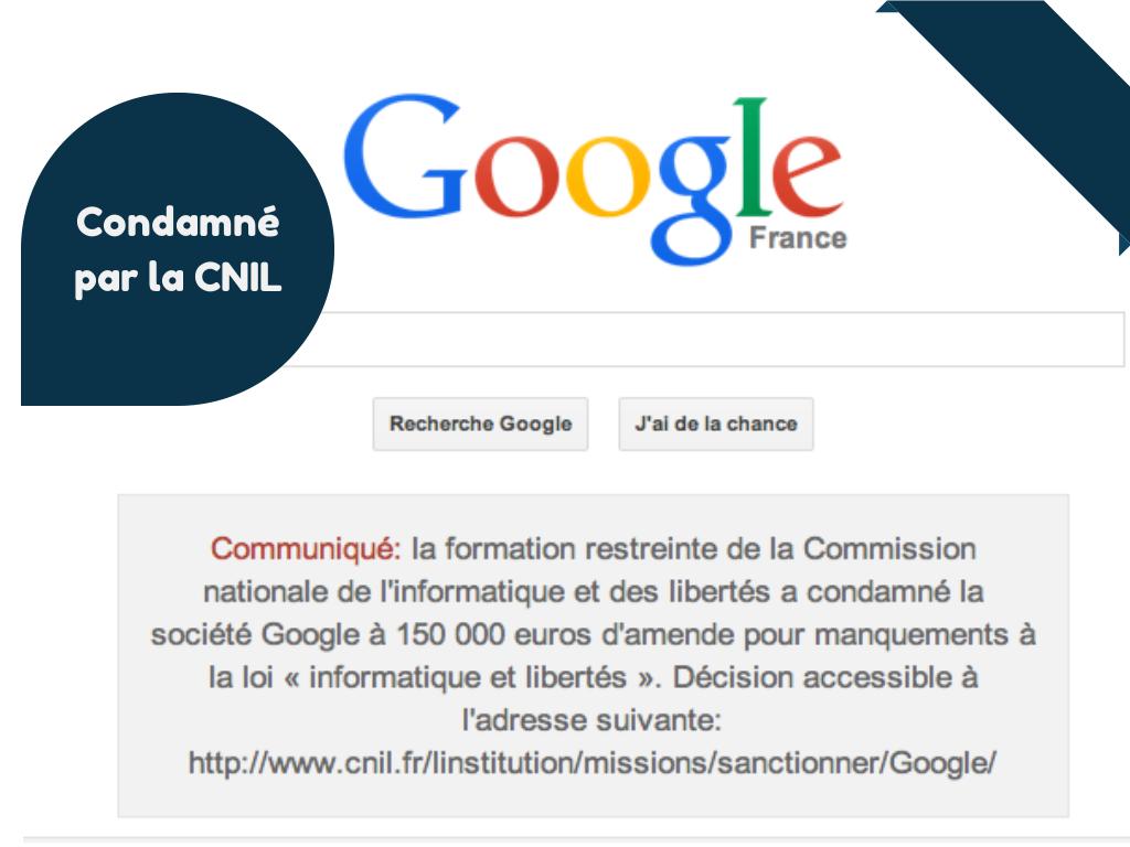 google, cnil, données personnelles, février 2014, 48 heures, cookies,