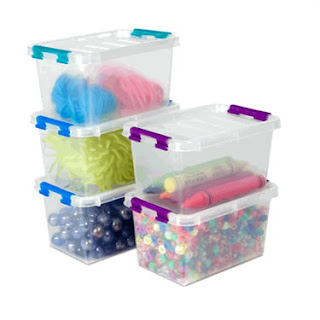 19 Things every DIYer should own- clear storage bins for organizing the craft closet. Clever nest