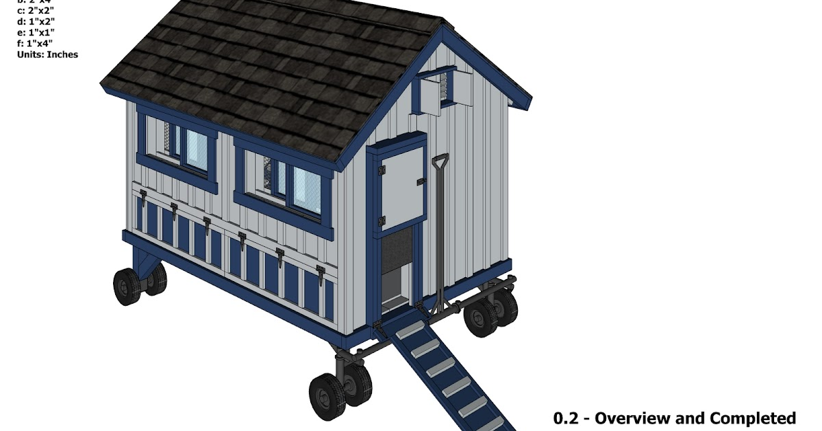 Tanto Nyam Free Chicken Coop On Wheels Plans