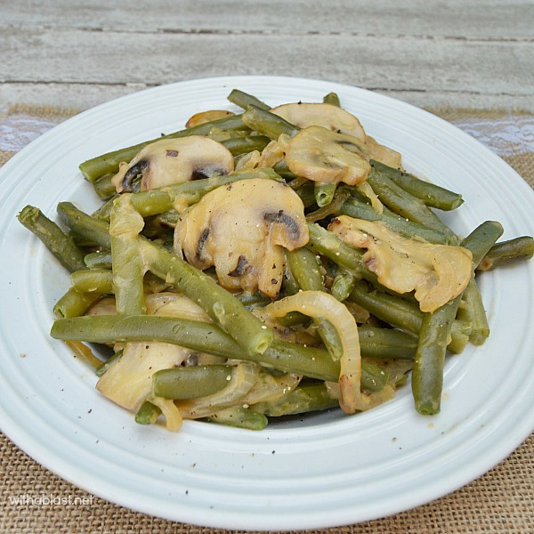My lazy day Creamy Green Beans - quick, delicious side dish