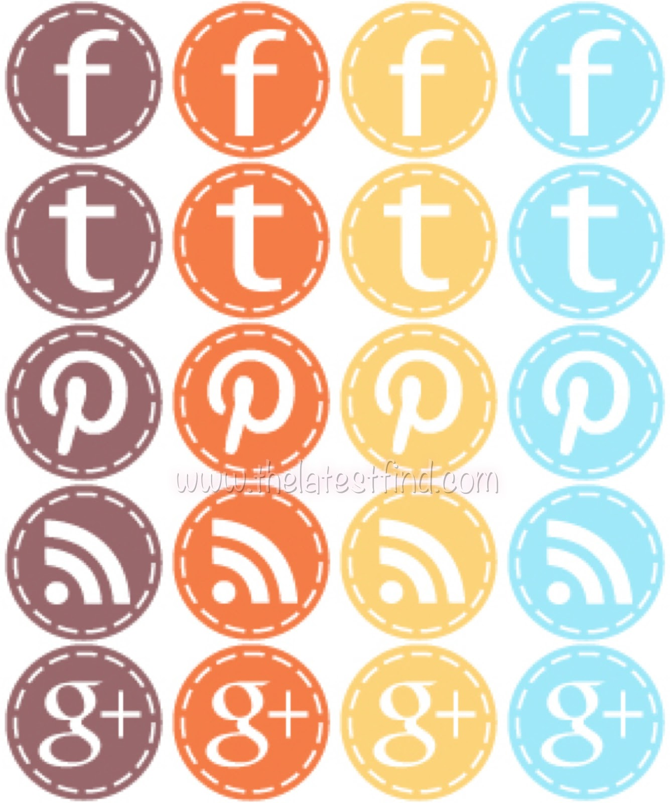 how to make social media icons in color