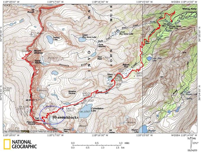 Mount Whitney (CA, USA) - 14,505ft (4,421m)