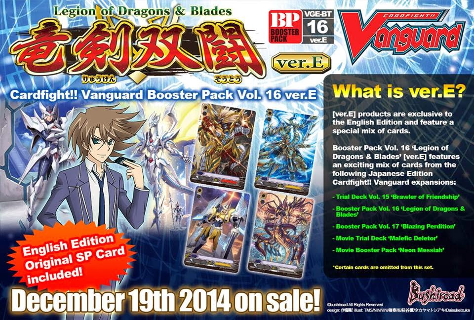 Cardfight Vanguard Legion of Dragons /& Blades Booster Box Vol 16 English Sealed