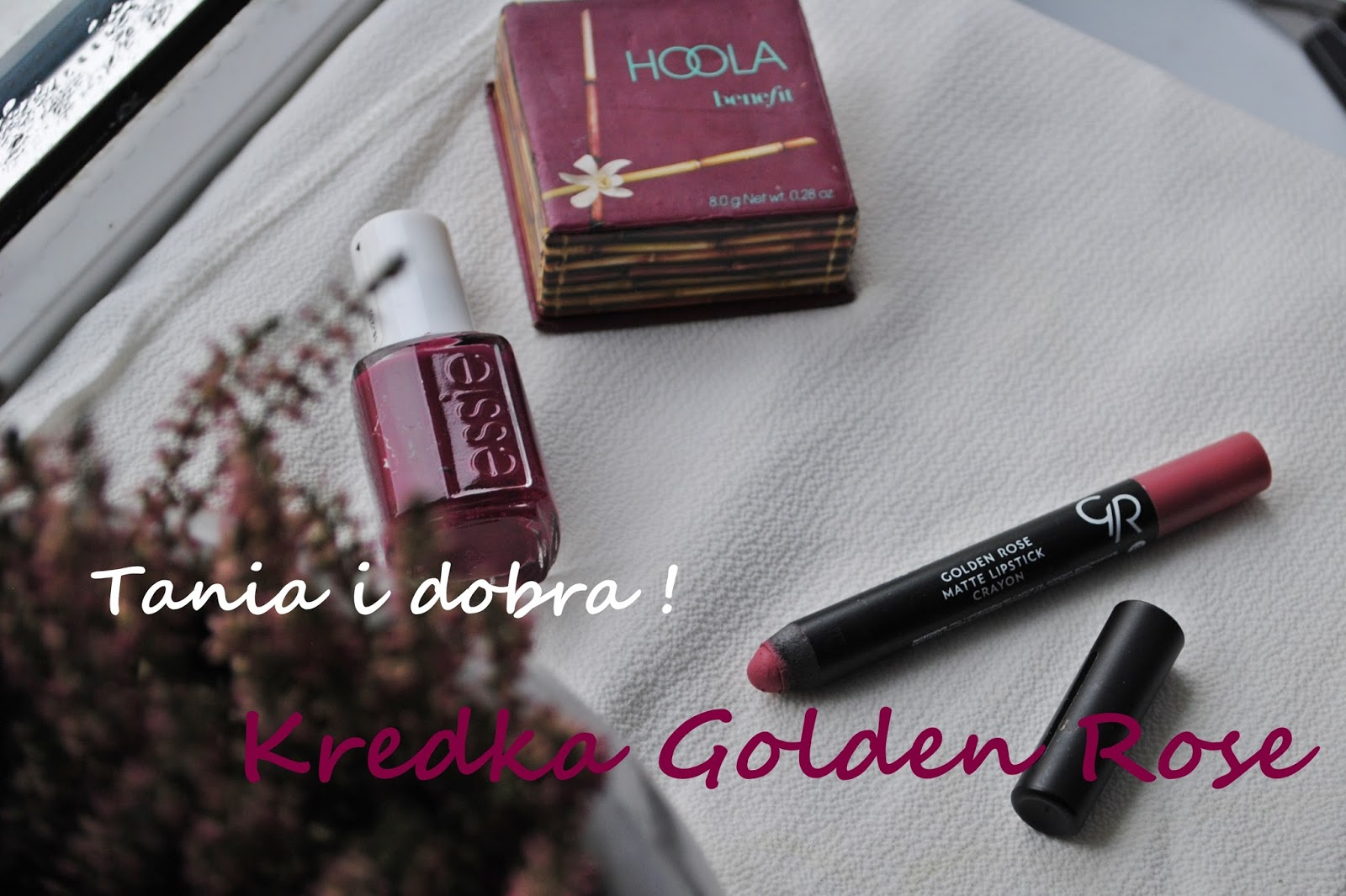 Matte Crayon Lipstick Golden Rose 10- tania i dobra kredka do ust