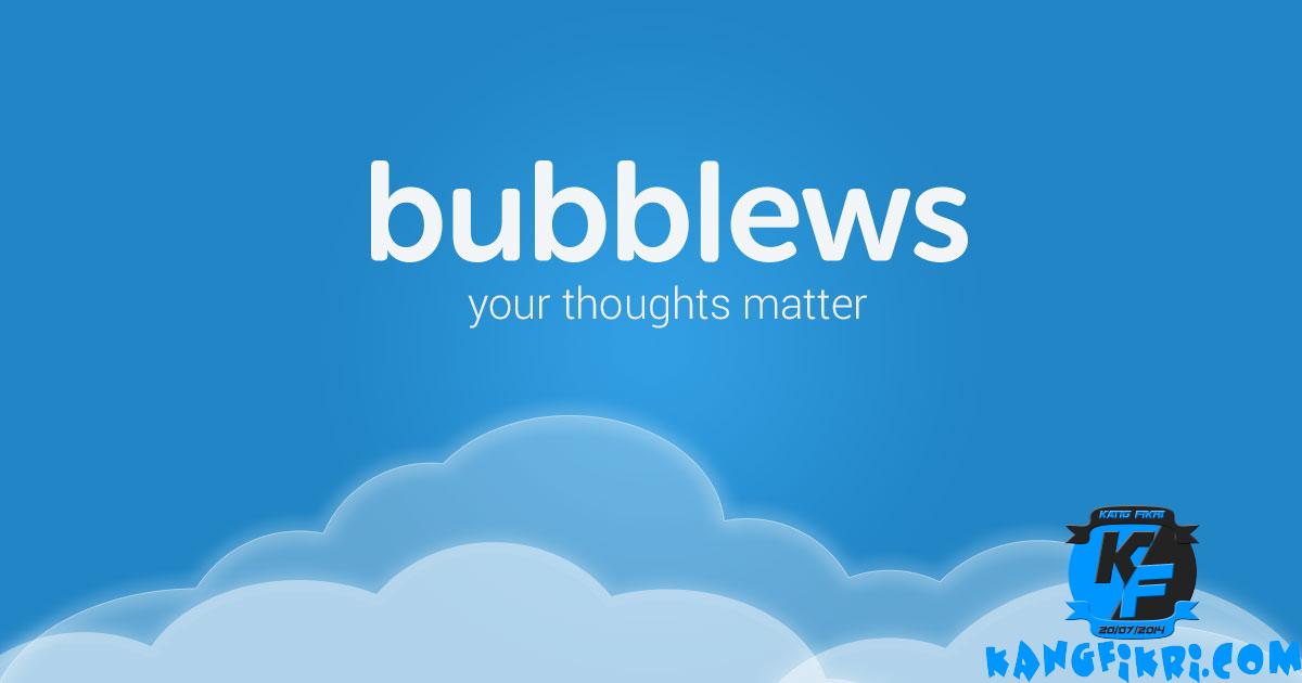 Berpenghasilan lewat bubblews
