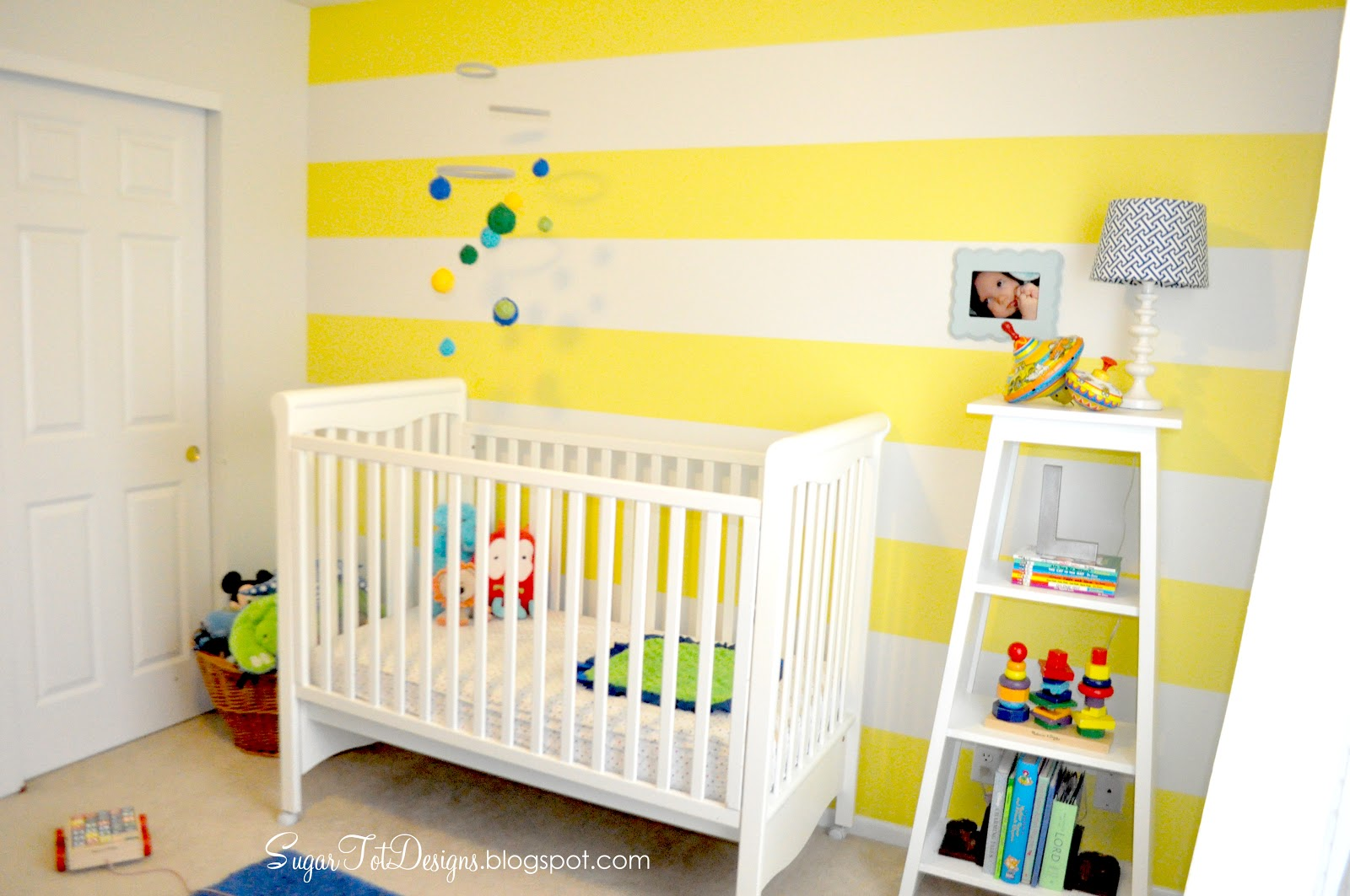 Sugartotdesigns Yellow Striped Nursery UPDATE