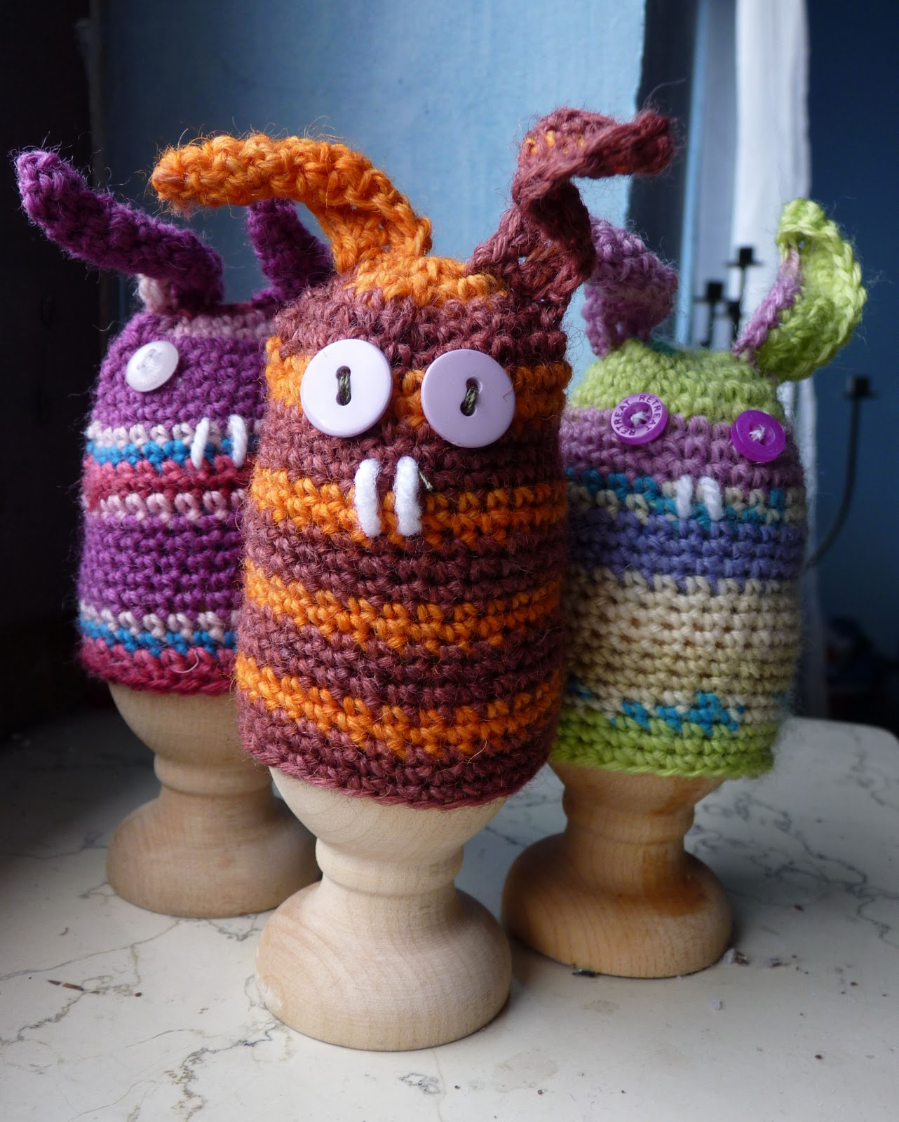 The Gingerbread Lady Killer Bunny Egg Cozy - Easter #crochet