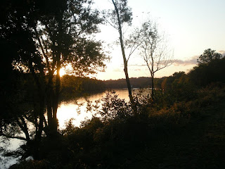 Beautiful sunset along the Schuylkill River Trail as we head back to Valley Forge