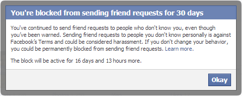 How To Send Friend Request on Facebook When Blocked for 30 Days