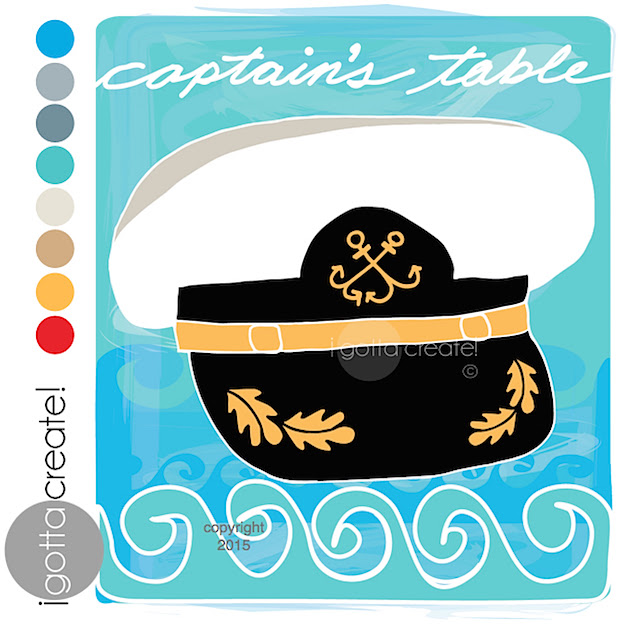 Captain's hat from the cruise ship vacation scrapbook line created by Christina at I Gotta Create!