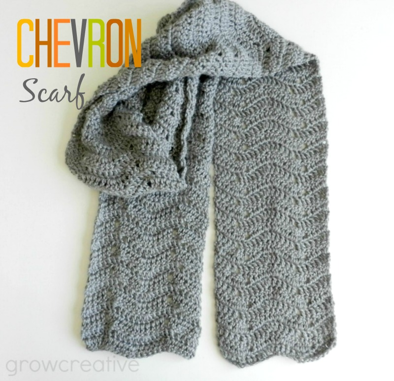 Crochet A Scarf : Grow Creative Blog: Crochet Chevron Scarf Pattern