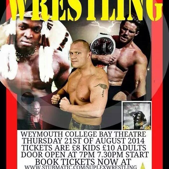 Suplex Wrestling Weymouth College Bay Theatre Thursday 21st August 2014