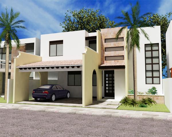 Fachadas modernas para casas de mínimo 9 metros de frente