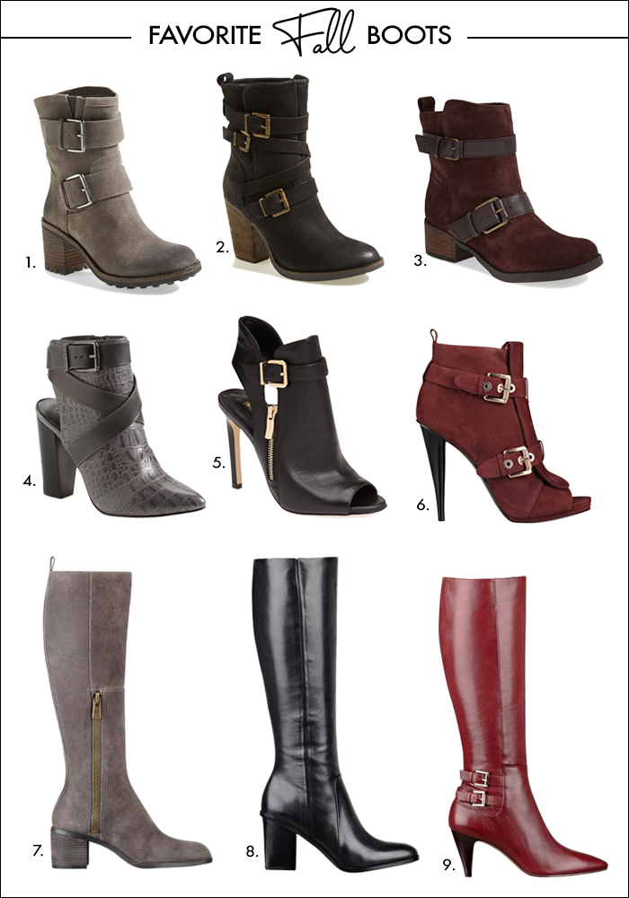 buckle boots, tall boots, grunge boots, red boots, nordstrom, nine west, Instyle Nine West