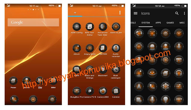 download icon pack black and orange