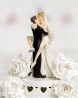 Bonecos para topo de bolo de casamento