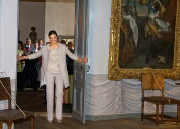 Princess Victoria Opened An Exhibition At The Gripsholm Castle