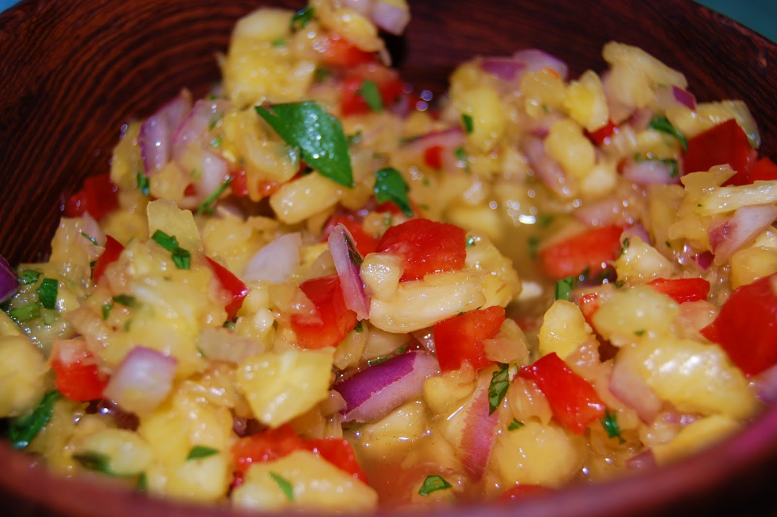 KnitOne,PearlOnion: Grilled Shrimp with Pineapple Salsa