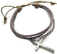 Mens Leather Bracelet Tropicari