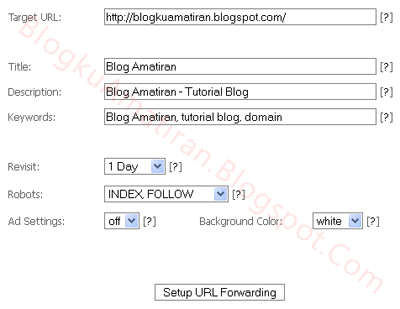 URL Forwarding Setting On Free Domain Cu.cc - Blog Amatiran