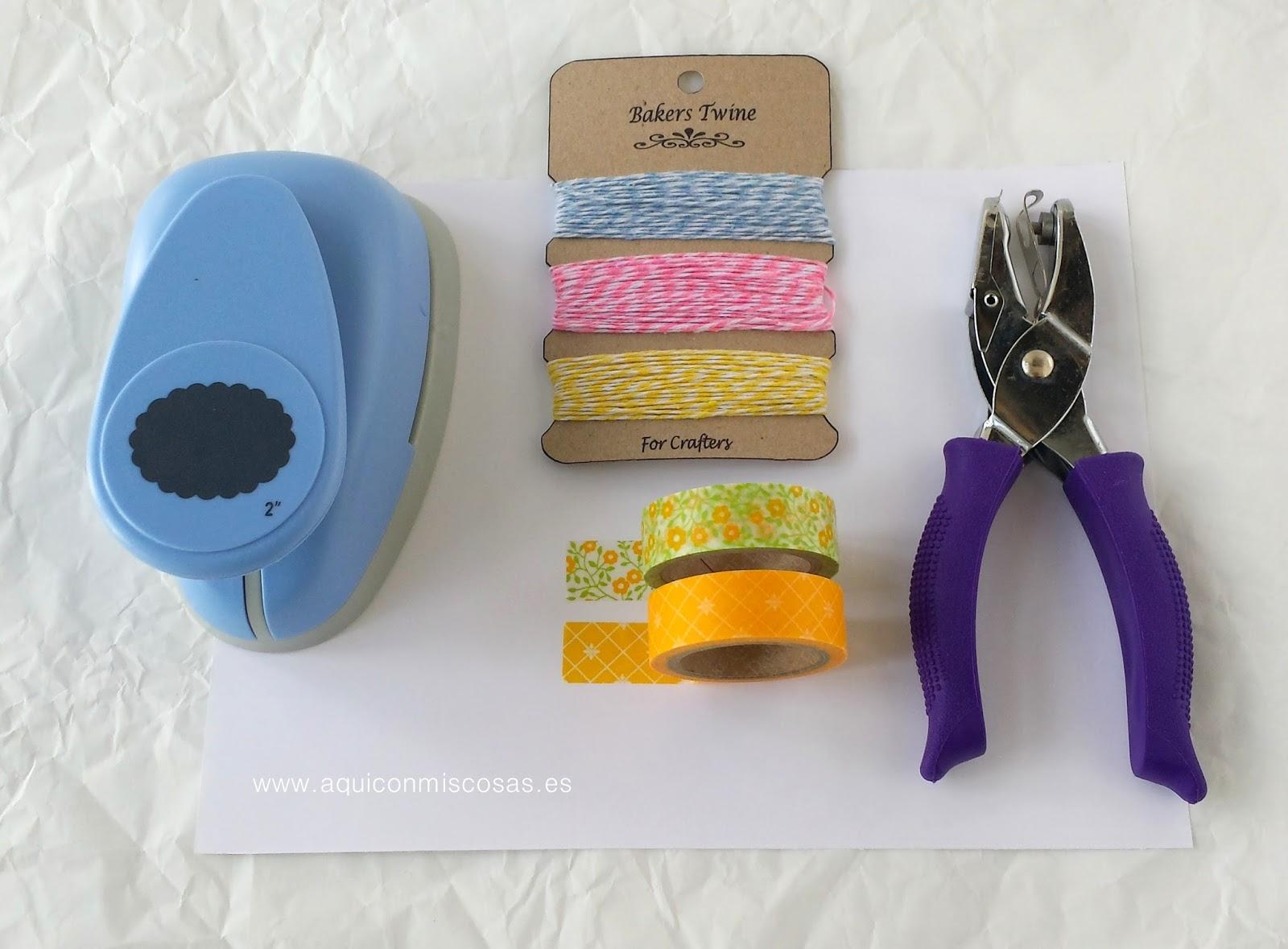 cintas washi tape de etiquetas de agujeros cordel