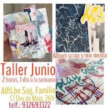 Taller Álbum de scrap y mixed media mensual (1 classe por semana, 1 proyecto al mes)