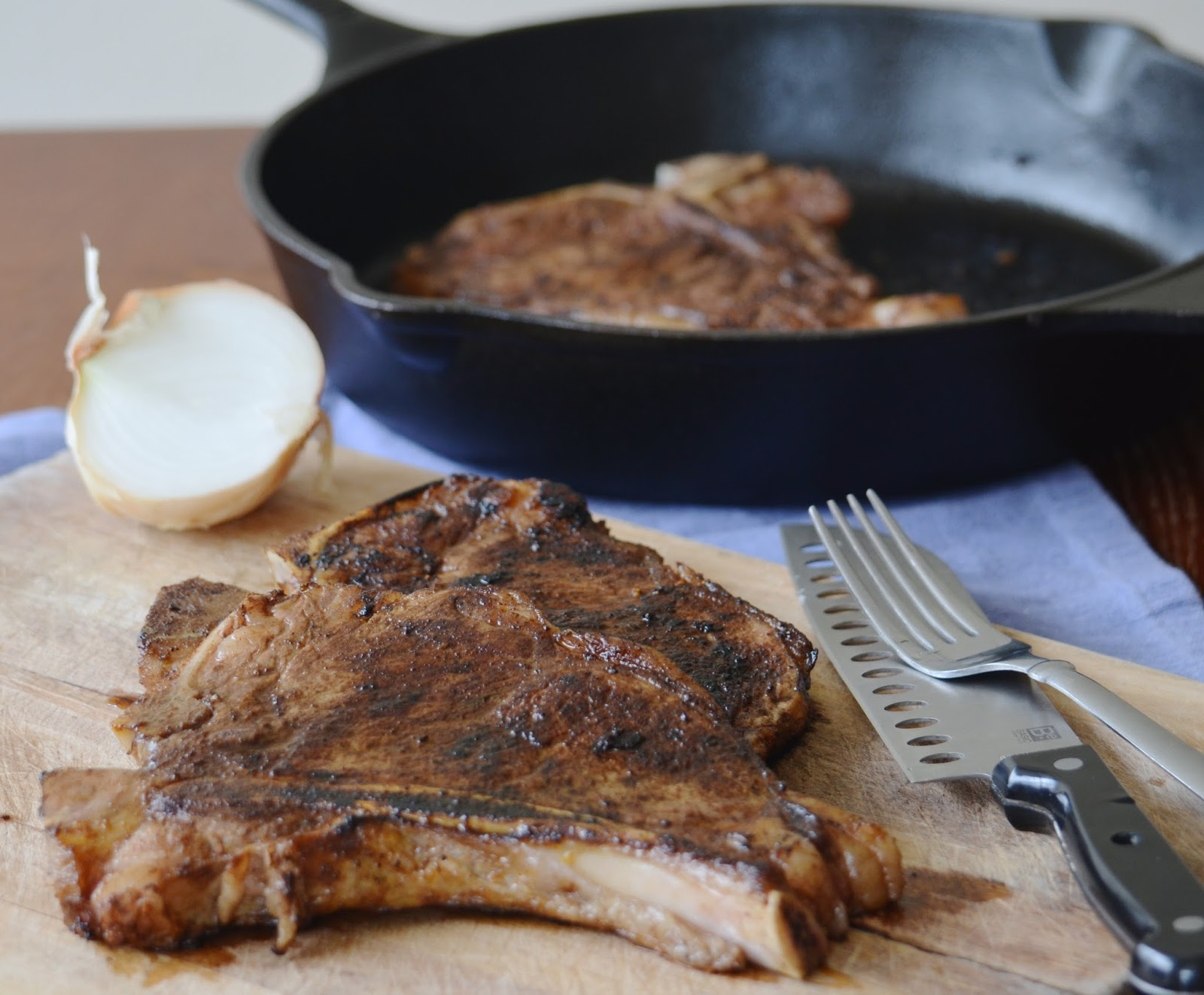 Coffee Rub Ribeye Steak cast iron skillet meat barbeque easy BBQ