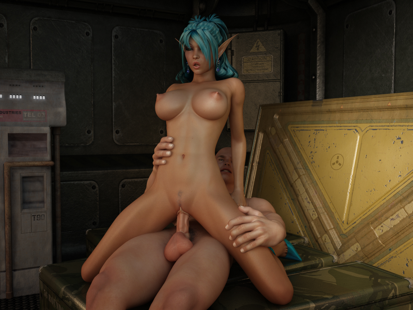 Elf girl fucked in water fucks scene