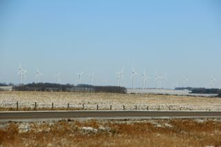 photo of wind farm in SE Minnesota