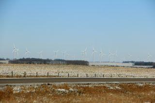 photo of wind farm in SE Minnesota