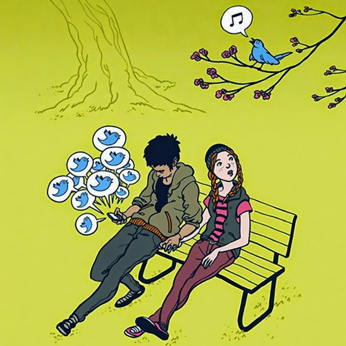Smartphones are stealing our Lives perfectly