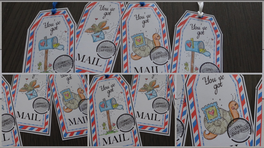 snail mail tags; mail art
