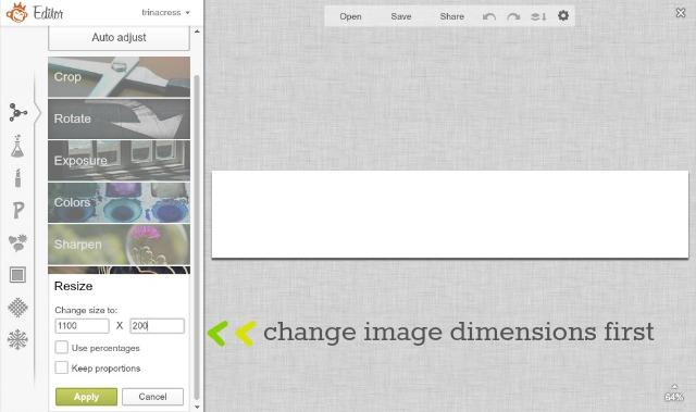 picmonkey resize change dimensions
