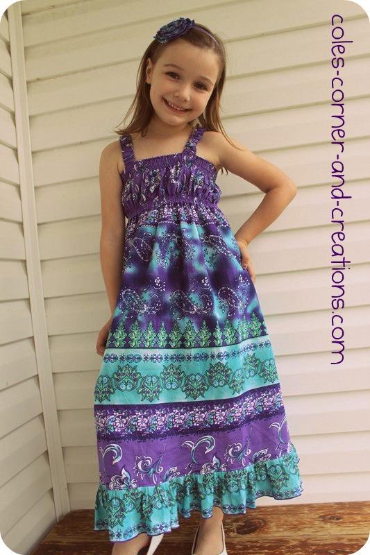 Shirred maxi dress pattern